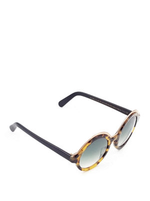 Cutler And Gross: sunglasses - Camu acetate round sunglasses