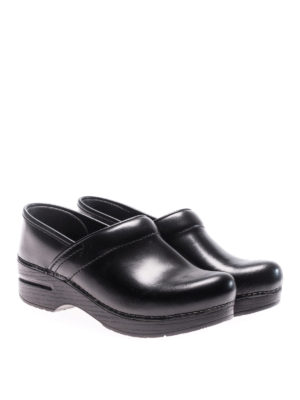Dansko: mules shoes online - Professional black leather clogs