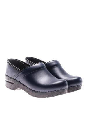 Dansko: mules shoes online - Professional blue leather clogs