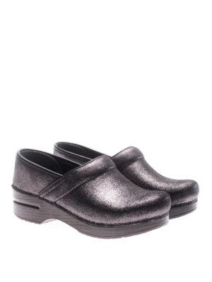Dansko: mules shoes online - Professional metallic suede clogs