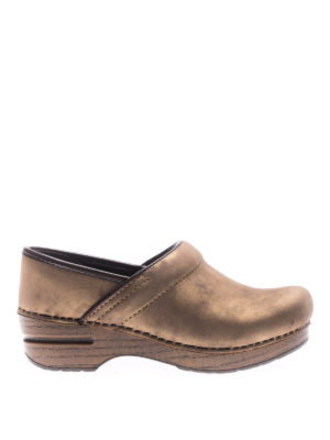 Dansko: mules shoes - Professional bronze leather clogs