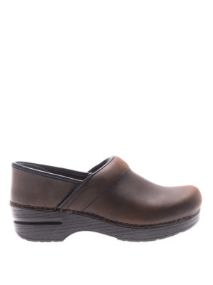 Dansko: mules shoes - Professional brown leather clogs