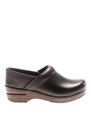 Dansko: mules shoes - Professional green leather clogs