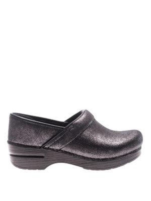 Dansko: mules shoes - Professional metallic suede clogs