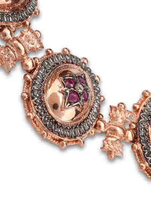De Maria: Bracelets & Bangles online - Rosé silver bracelet