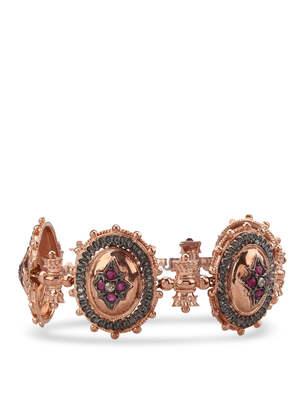 De Maria: Bracelets & Bangles - Rosé silver bracelet