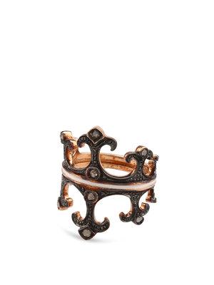 De Maria: rings - Silver crown ring