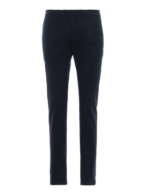 DEPARTMENT 5: pantaloni casual - Pantaloni Mike in twill stretch blu