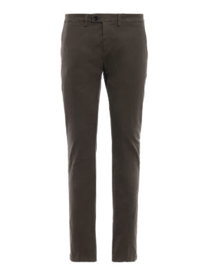 DEPARTMENT 5: pantaloni casual - Pantaloni Mike in twill stretch fango