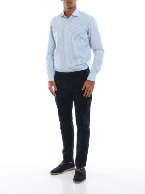 DEPARTMENT 5: pantaloni casual online - Pantaloni Mike in twill stretch blu