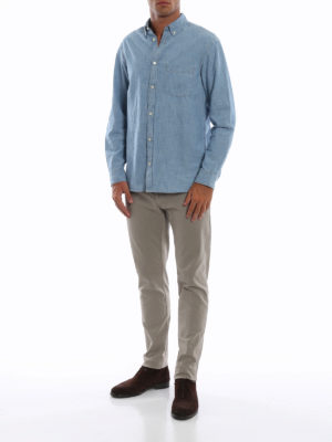 DEPARTMENT 5: pantaloni casual online - Pantaloni Mike in twill stretch mastice
