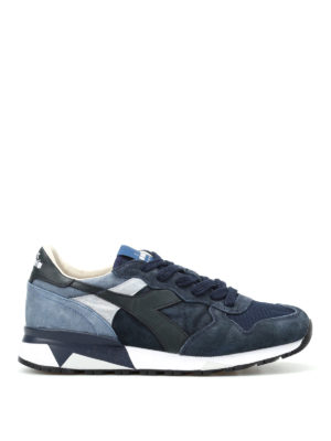 Diadora: trainers - Trident 90 S blue-tone sneakers