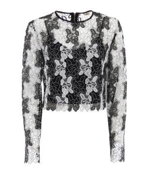 Diane Von Furstenberg: blouses - Bicolour lace blouse