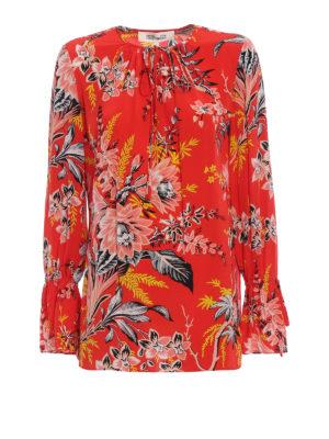 Diane Von Furstenberg: blouses - Floral fluid silk blouse