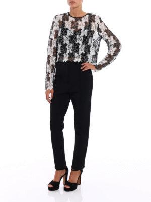 Diane Von Furstenberg: blouses online - Bicolour lace blouse