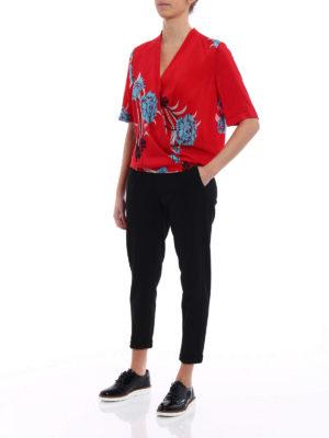 Diane Von Furstenberg: blouses online - Farli cross-over silk blouse