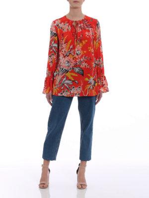 Diane Von Furstenberg: blouses online - Floral fluid silk blouse