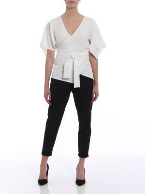 Diane Von Furstenberg: blouses online - Ivory cady wrap blouse
