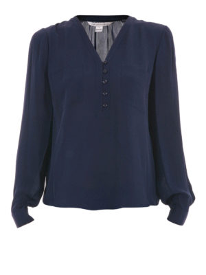 Diane Von Furstenberg: blouses - Pockets detailed silk blouse