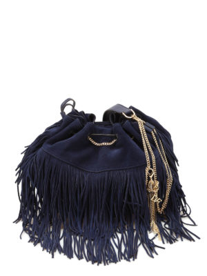Diane Von Furstenberg: Bucket bags - Love Power fringed bucket bag