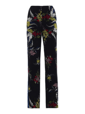 Diane Von Furstenberg: casual trousers - Floral straight leg trousers