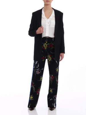 Diane Von Furstenberg: casual trousers online - Floral straight leg trousers