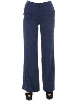 Diane Von Furstenberg: casual trousers online - Silk blend flared trousers