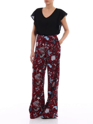 Diane Von Furstenberg: casual trousers online - Wool blend wide trousers