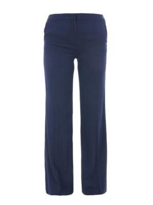Diane Von Furstenberg: casual trousers - Silk blend flared trousers