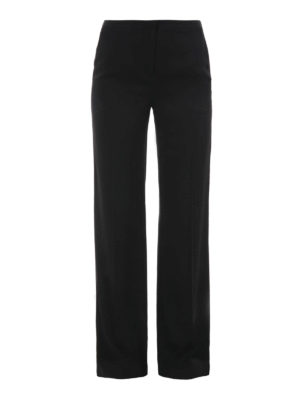 Diane Von Furstenberg: casual trousers - Wide silk trousers