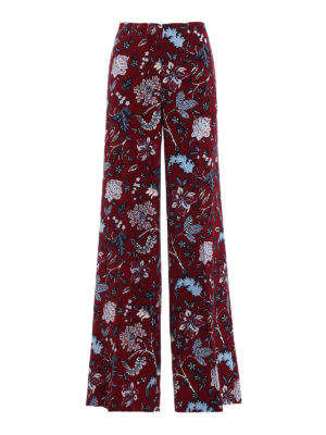 Diane Von Furstenberg: casual trousers - Wool blend wide trousers