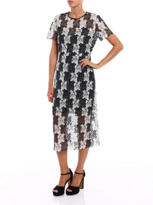 Diane Von Furstenberg: cocktail dresses online - Bicolour lace dress
