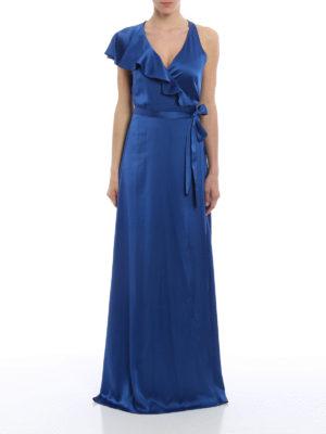Diane Von Furstenberg: evening dresses online - Satin ruffled wrap dress