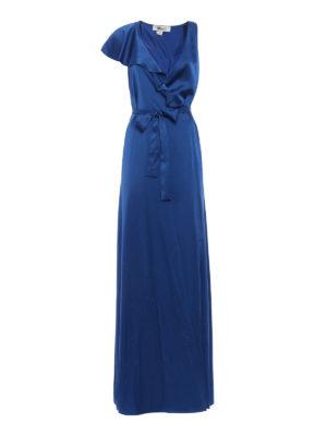 Diane Von Furstenberg: evening dresses - Satin ruffled wrap dress