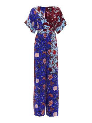 Diane Von Furstenberg: jumpsuits - Crepe de chine printed jumpsuit