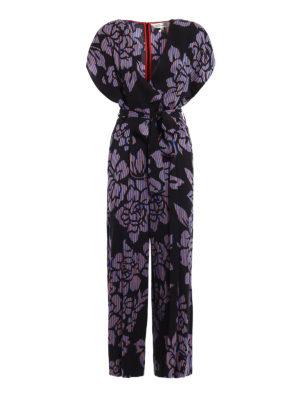 Diane Von Furstenberg: jumpsuits - Kimono inspired viscose jumpsuit