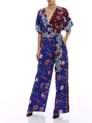 Diane Von Furstenberg: jumpsuits online - Crepe de chine printed jumpsuit