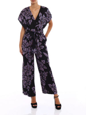 Diane Von Furstenberg: jumpsuits online - Kimono inspired viscose jumpsuit