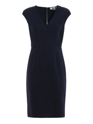 Diane Von Furstenberg: knee length dresses - Back full zip jersey dress