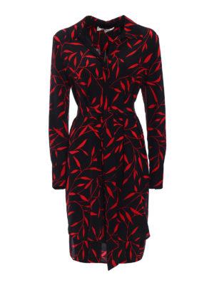 Diane Von Furstenberg: knee length dresses - Belted asymmetrical silk dress