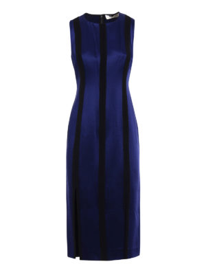Diane Von Furstenberg: knee length dresses - Contrasting panels sheath dress