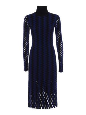 Diane Von Furstenberg: knee length dresses - Intarsia knit turtleneck dress