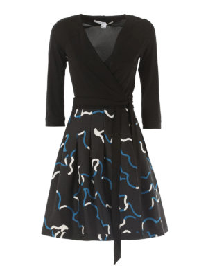Diane Von Furstenberg: knee length dresses - Jewel silk blend wrap dress