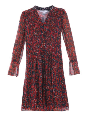 Diane Von Furstenberg: knee length dresses - Kourtni silk chiffon dress