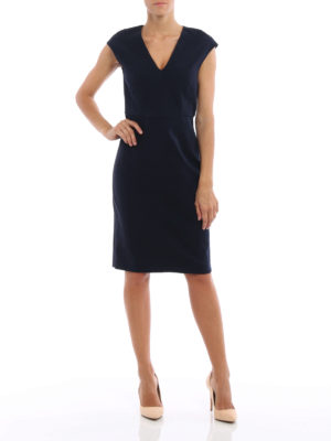Diane Von Furstenberg: knee length dresses online - Back full zip jersey dress