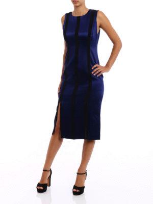 Diane Von Furstenberg: knee length dresses online - Contrasting panels sheath dress