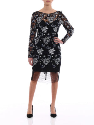 Diane Von Furstenberg: knee length dresses online - Guipure lace and tulle fitted dress