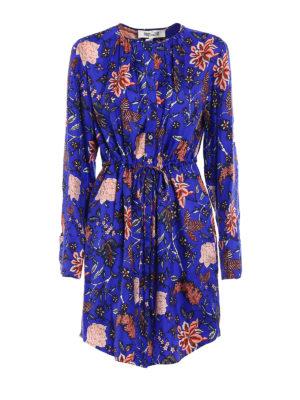 Diane Von Furstenberg: knee length dresses - Silk twill shirt dress
