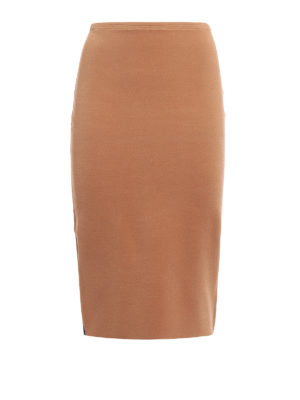 Diane Von Furstenberg: Knee length skirts & Midi - Bicolour knit pencil skirt