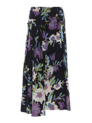 Diane Von Furstenberg: Knee length skirts & Midi - Floral silk wrap skirt